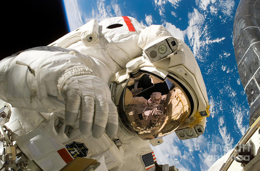 Horizontal Photograph - An Astronaut Mission Specialist by Stocktrek Images