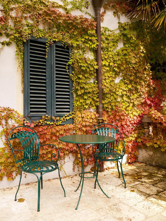Tuscany Photograph - An Autumn Corner by Rae Tucker