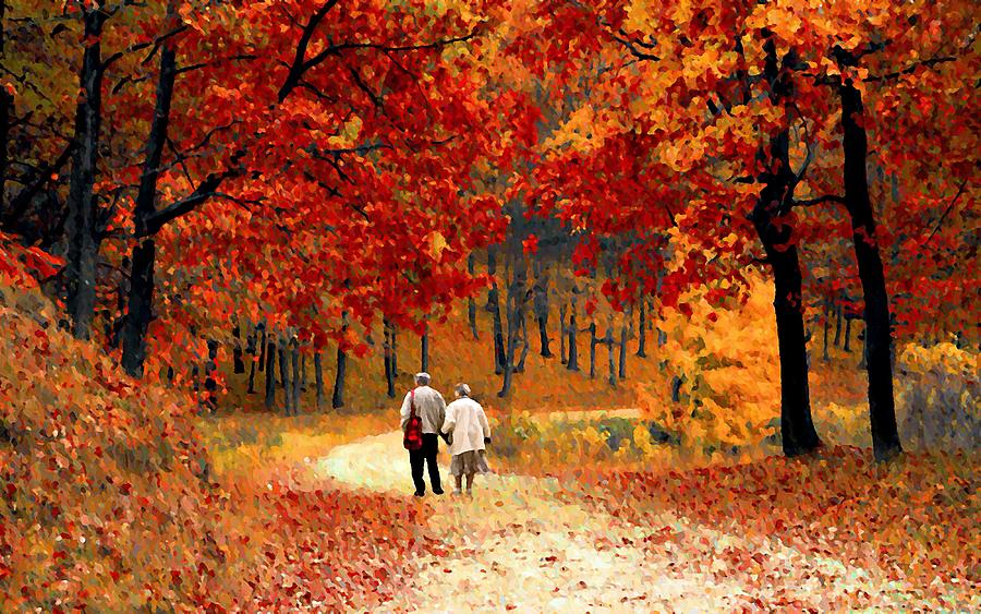 An Autumn Walk by David Dehner