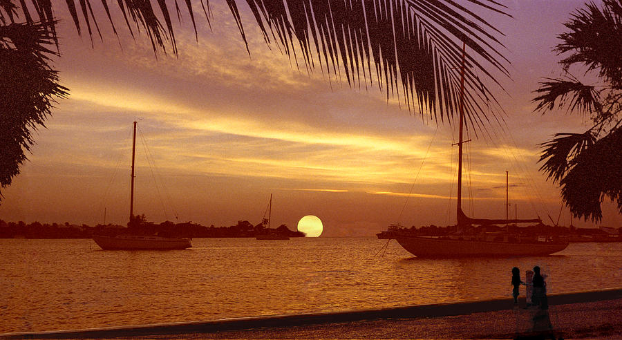Tropical Sunset Digital Art - An East West Sunset by Richard Nickson