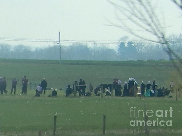 Amish Photograph - An Easter Monday Celebration by Christine Clark