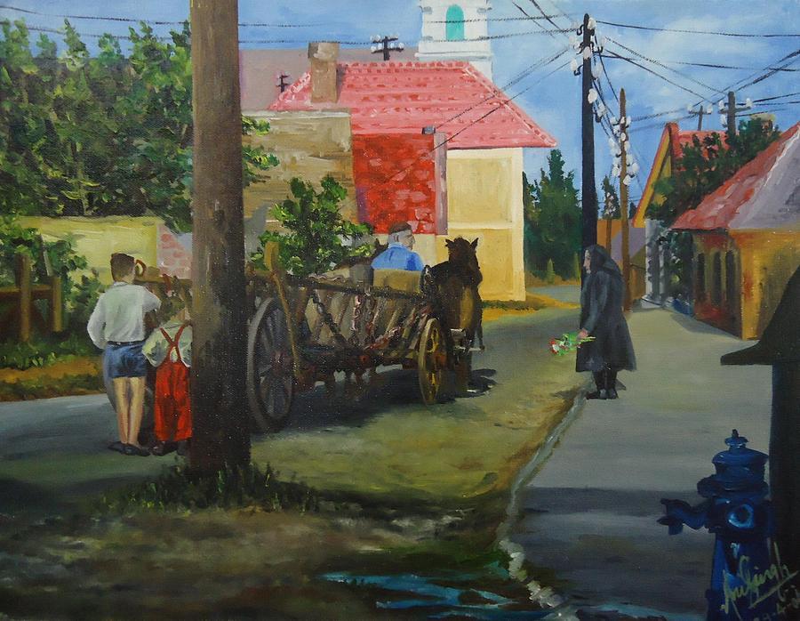 Village Painting - An Eastern European Village by Anil Singh