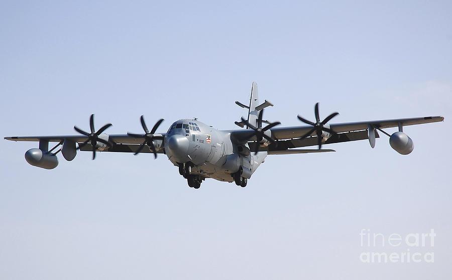 Ec-130 Photograph - An Ec-130j Commando Solo Aircraft by Stocktrek Images