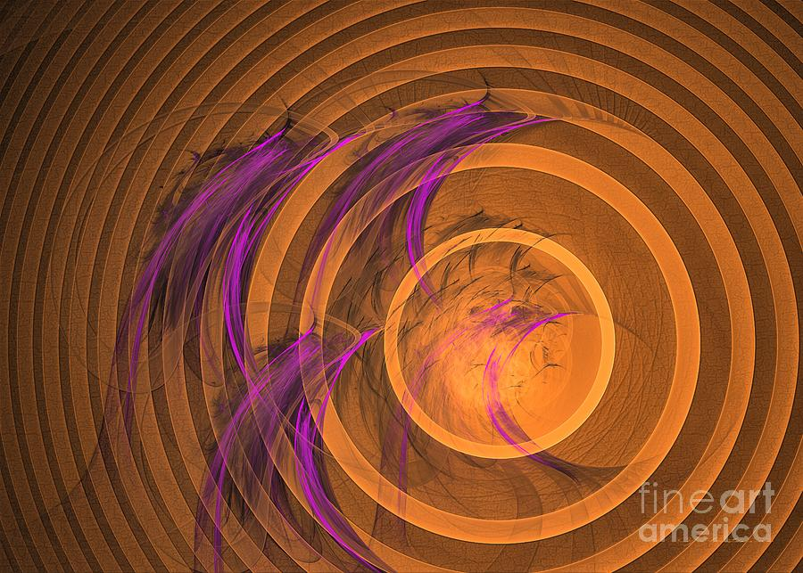 An echo from the past - Abstract art by Sipo Liimatainen