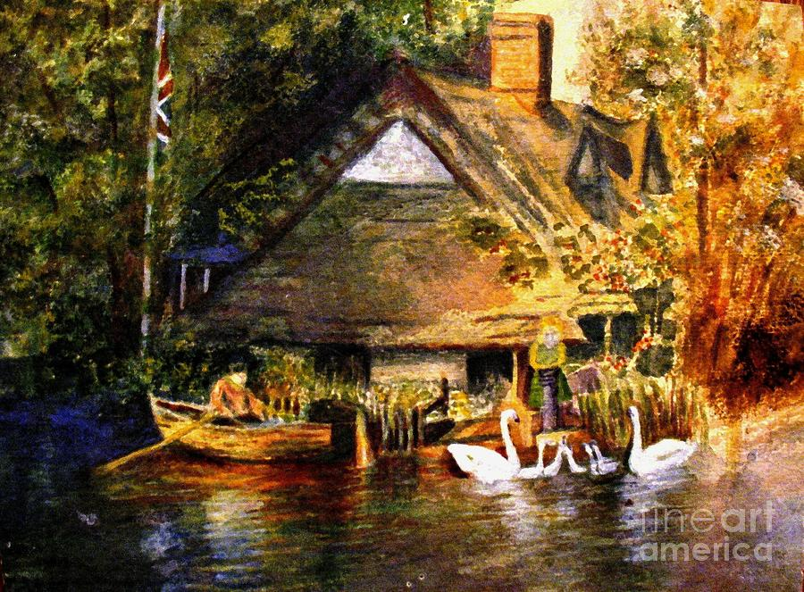 An English Country Scene Painting By Hazel Holland