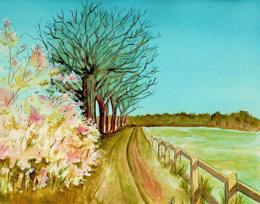 Landscape Painting - An English Footpath by Brenda Owen