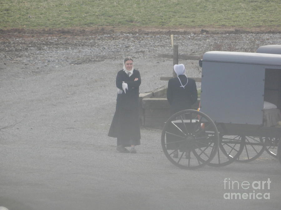 Amish Photograph - An Evening Goodbye by Christine Clark