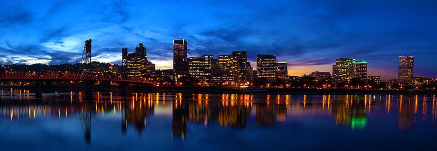 Portland Oregon Photograph - An Evening In Portland by Brian Bonham