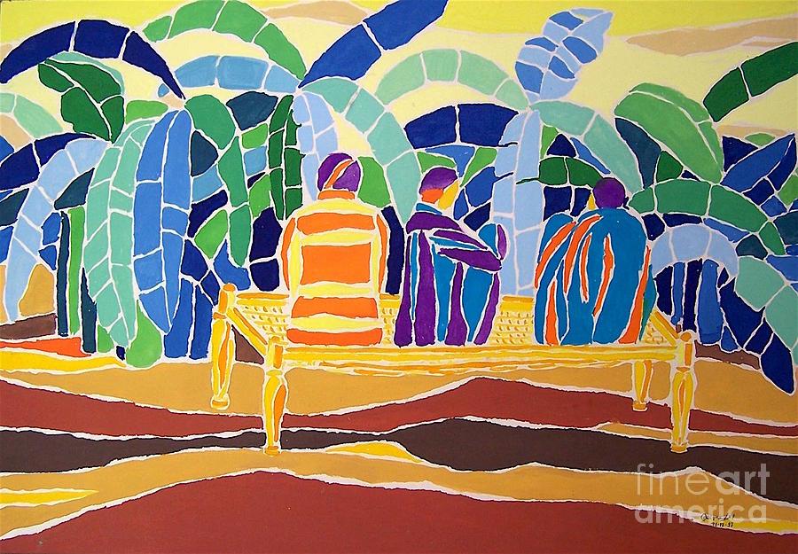 Banana Plantation Painting - An Evening Near The Banana Plantation by Seema Kumar