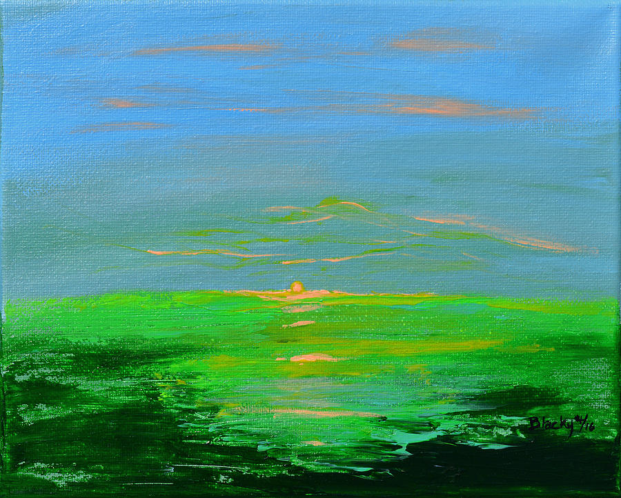 Abstract Landscape Painting - An Evening Of Peace by Donna Blackhall