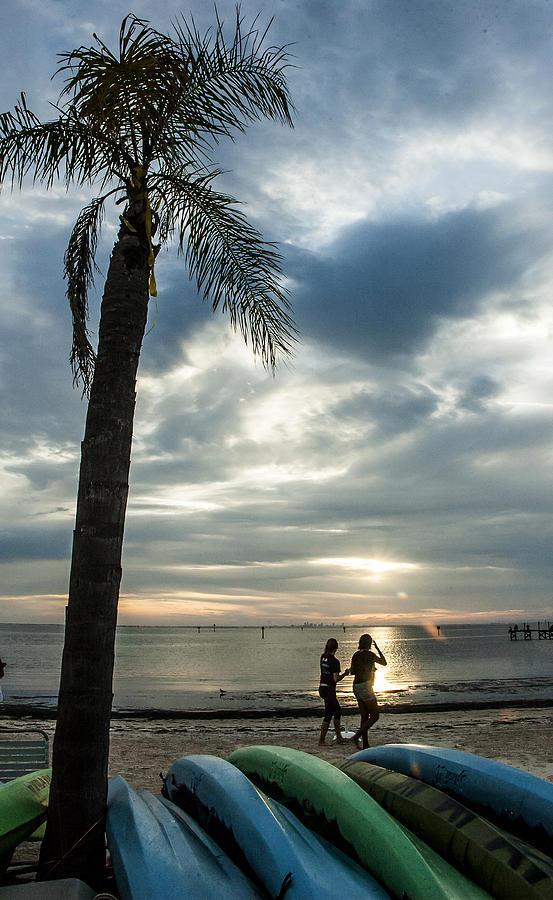 Sunset Photograph - An Evenings Idyl by Norman Johnson