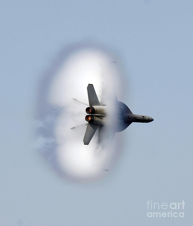 Vertical Photograph - An Fa-18f Super Hornet Completes by Stocktrek Images
