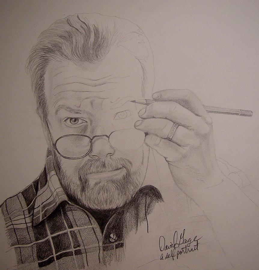 Portraits Drawing - An Incomplete Artist by David Gage