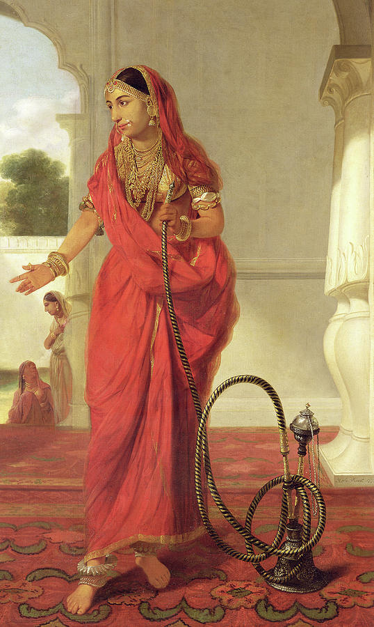 An Indian Dancing Girl With A Hookah Painting By Tilly Kettle