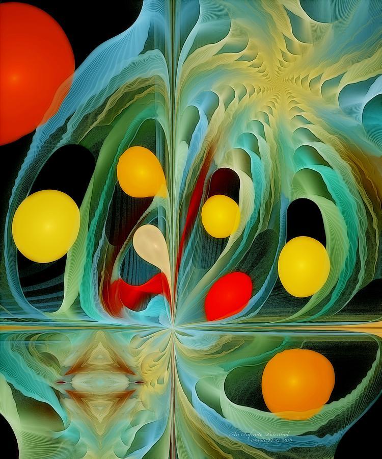 Fractal Digital Art - An Infinite Potential by Gayle Odsather