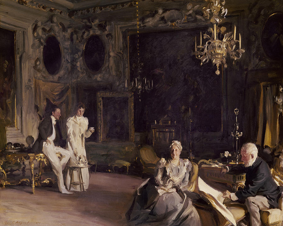 Sargent Painting - An Interior In Venice by John Singer Sargent