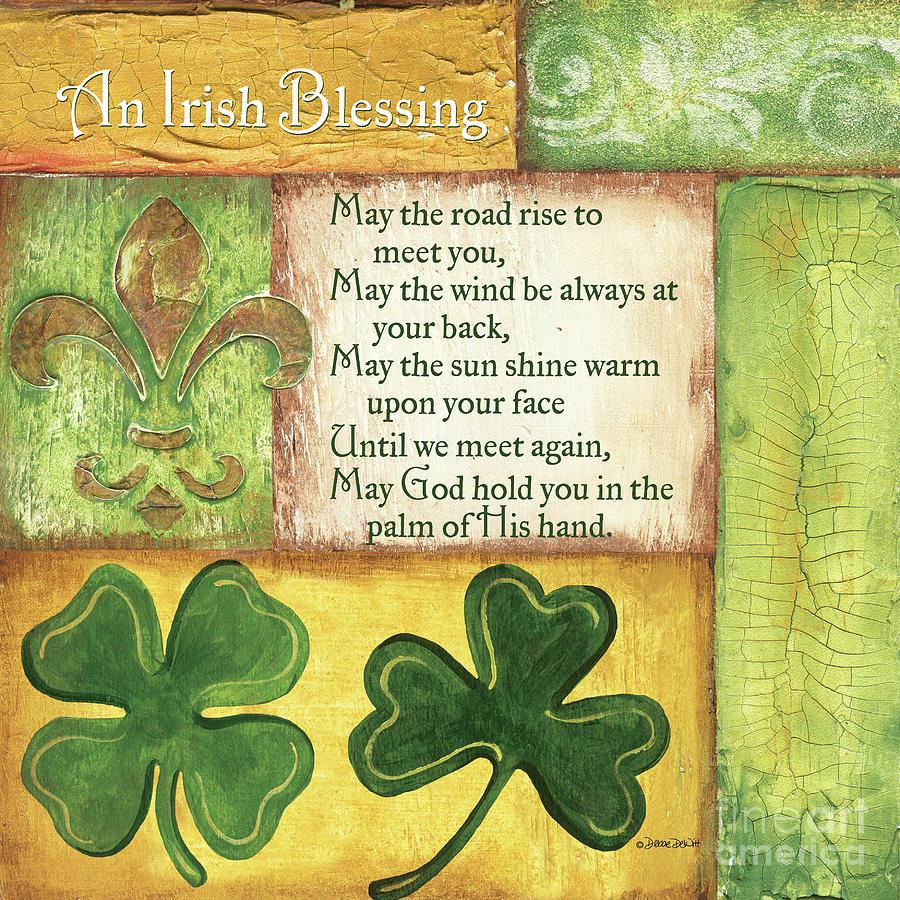 Irish Painting - An Irish Blessing by Debbie DeWitt