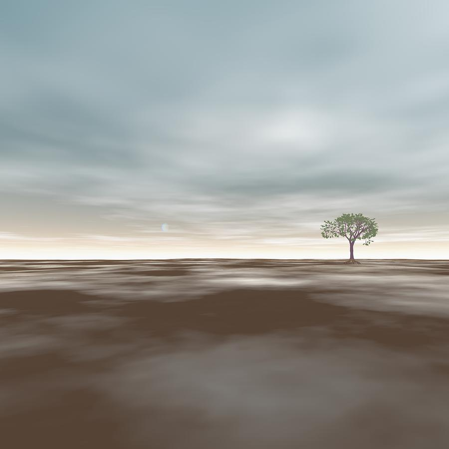 Tree Digital Art - An Isolated Tree Identification Number F002 by Taketo Takahashi