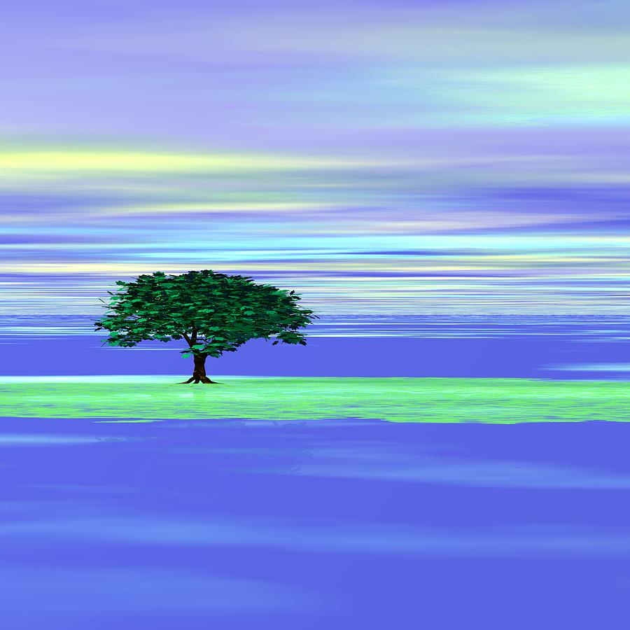 Tree Digital Art - An Isolated Tree Identification Number R004 by Taketo Takahashi