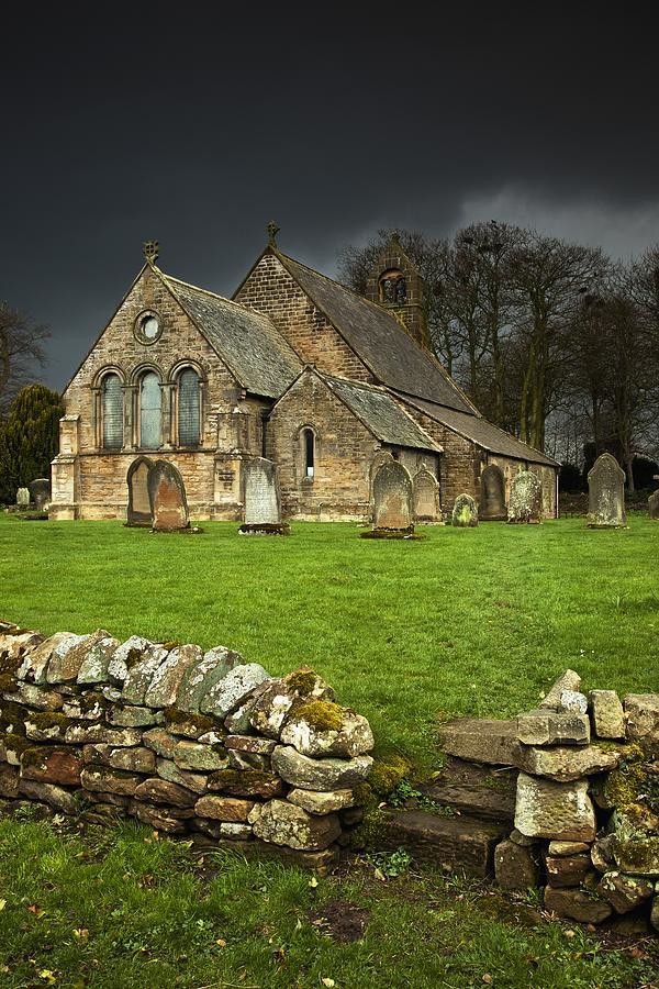 Church Photograph - An Old Church Under A Dark Sky by John Short