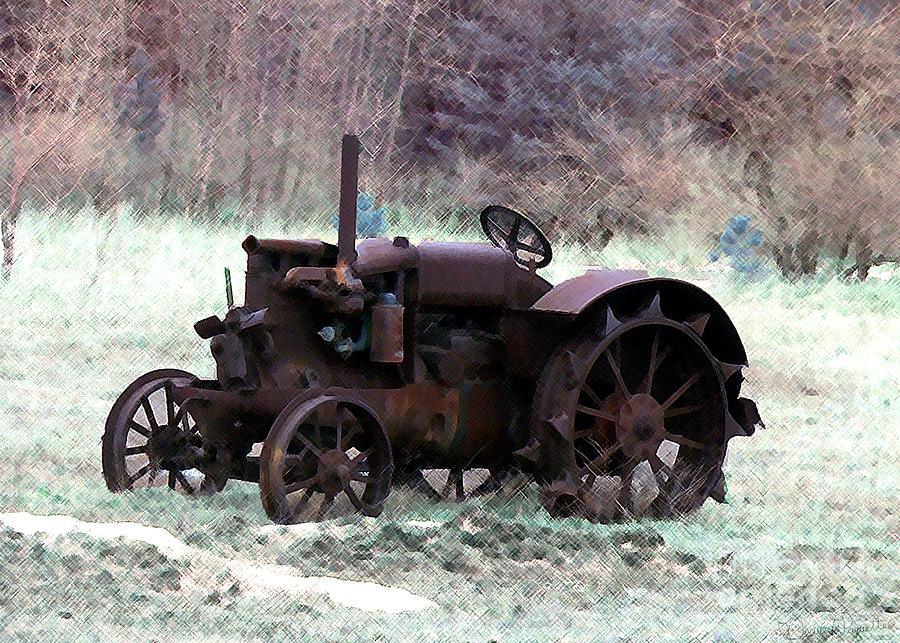 Tractor Photograph - An Old Friend by Desiree Paquette