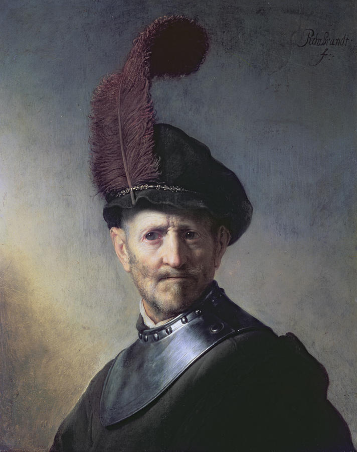 Old Painting - An Old Man In Military Costume by Rembrandt
