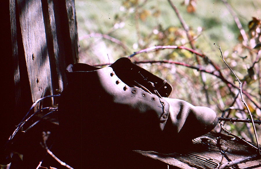 Shoe Photograph - An Old Shoe by Richard Mansfield