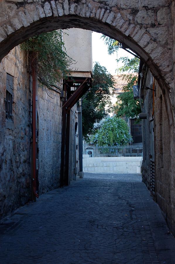 Jerusalem Photograph - An Old Street In Jerusaem by Susan Heller
