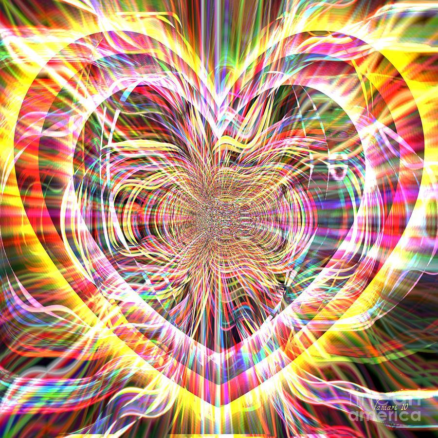 Fania Simon Digital Art - An Open Heart  by Fania Simon