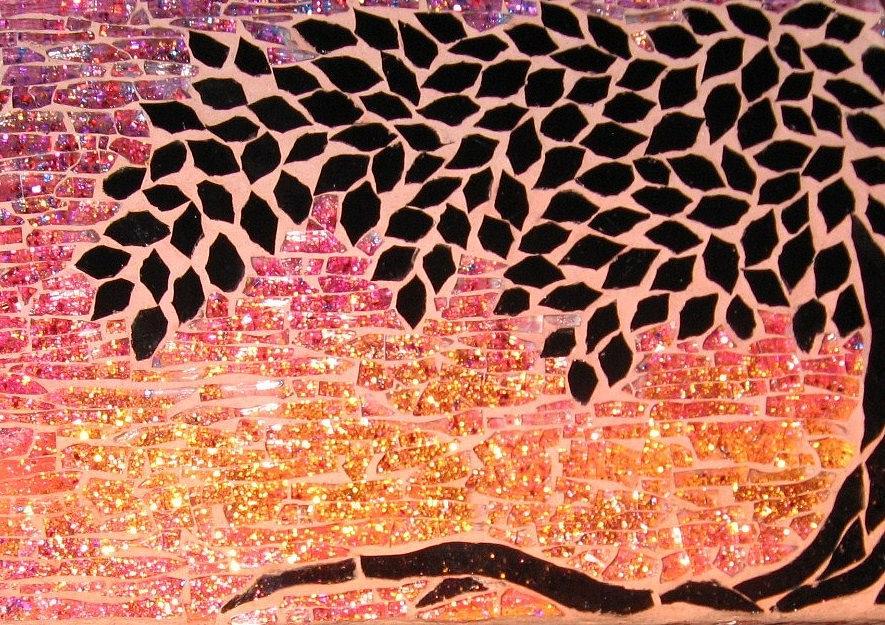 Sunset Glass Art - An Oregon Sunset by Berta Sergeant