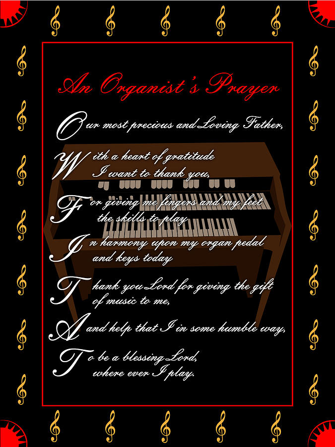 An Organists Prayer_1 Digital Art by Joe Greenidge
