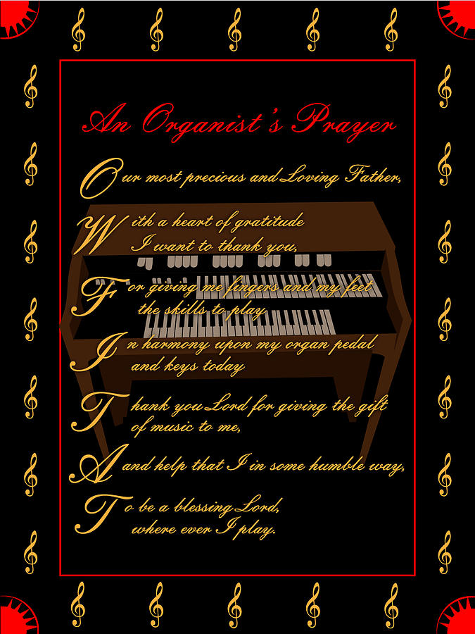 An Organists Prayer_2 Digital Art by Joe Greenidge