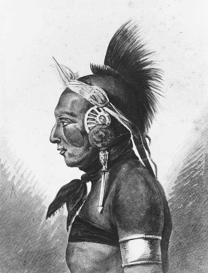 Indian Painting - An Osage Warrior by MotionAge Designs