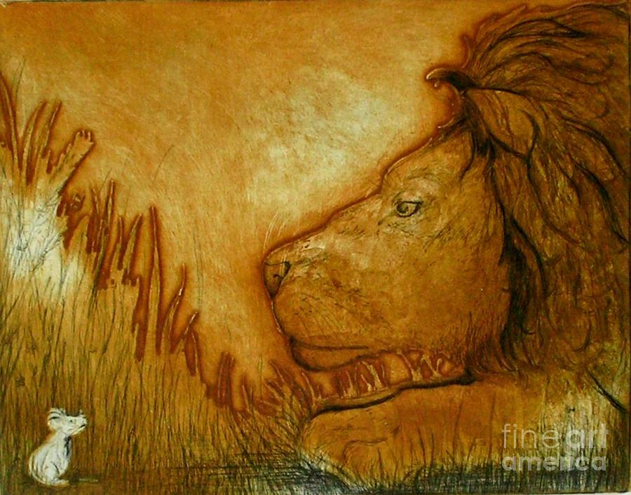 Animals Drawing - An Understanding by Susan Clausen