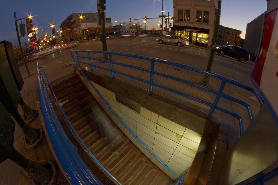 An Urban Moment At Blue Hour Photograph