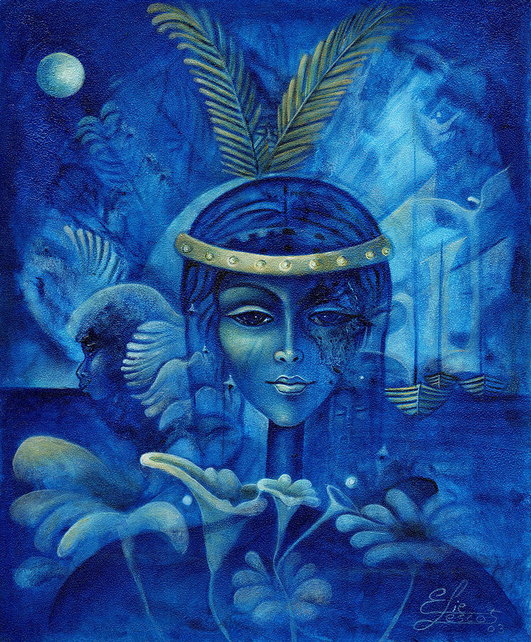 Haitian Painting - Anacaona by Elie Lescot