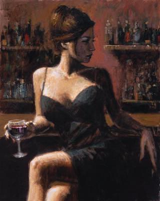 Woman Painting - Analie by Fabian Perez