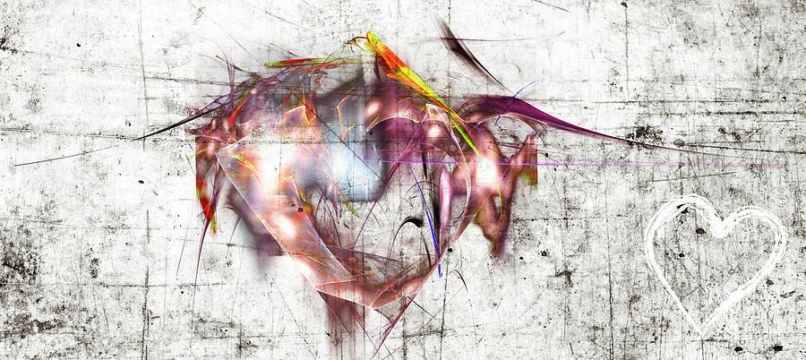 Analog And Digital Hearts Digital Art