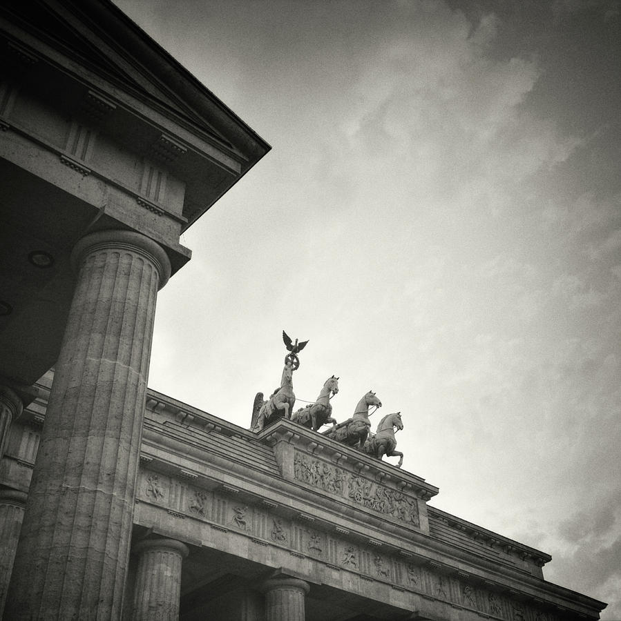 Analog black and white photography berlin brandenburg gate
