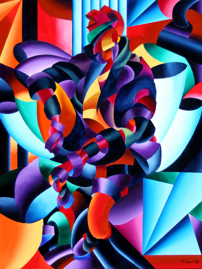 Abstract Painting - Anamorphosis From The Outside In by Mark Webster