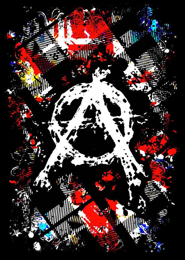 Anarchy Punk Digital Art By Roseanne Jones