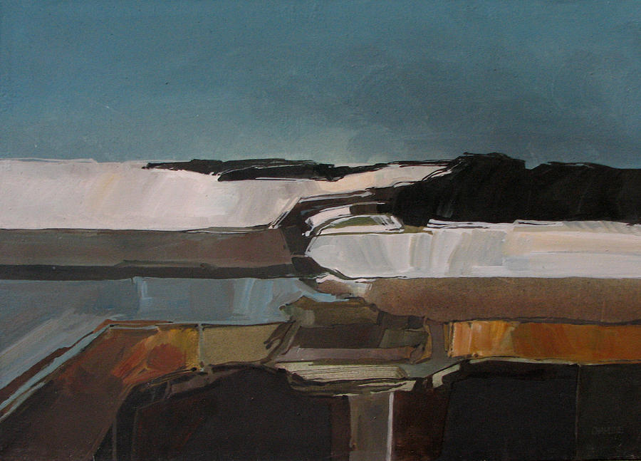 Abstract Painting - Anasazi Winter by Curtis Chapline