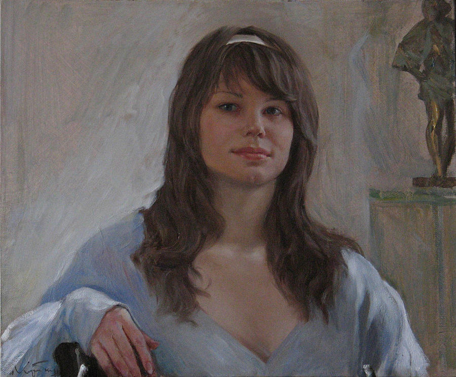 Anastasya Painting by Korobkin Anatoly