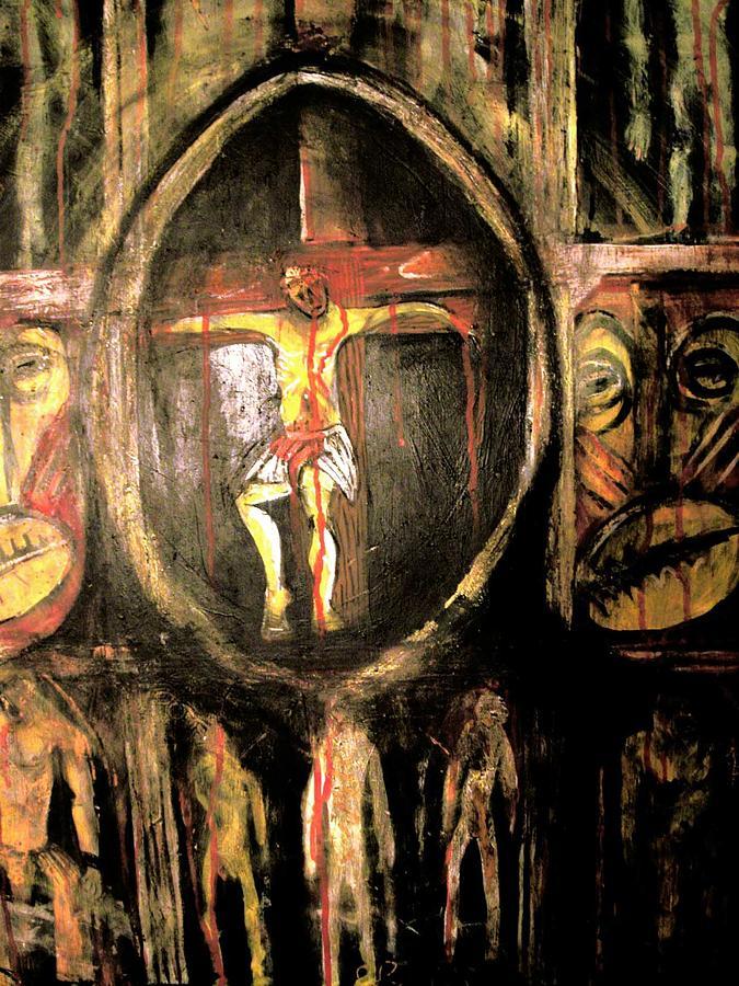 Nappy Head Art Painting - Ancestorial Blood by Robert Daniels