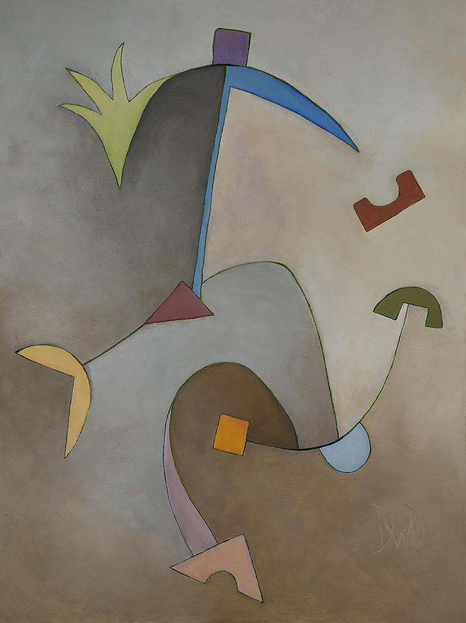 Geometric Abstracts Painting - Anchor Points 8 by David Douthat