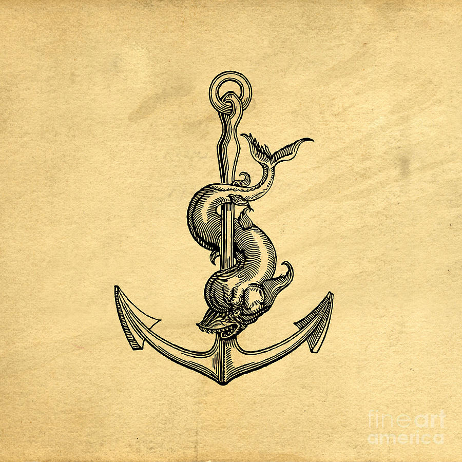 Welcome Drawing - Anchor Vintage by Edward Fielding
