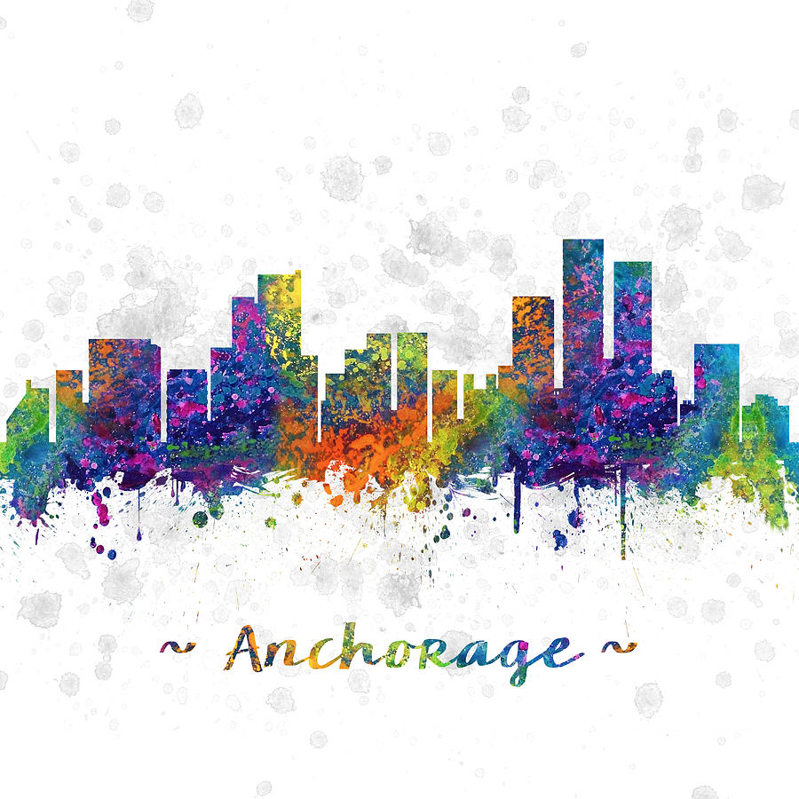 Color art anchorage - Anchorage Digital Art Anchorage Alaska Color 03sq By Aged Pixel