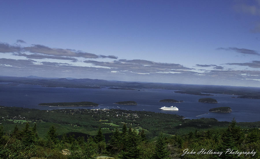 Acadia Photograph - Anchored by John Holloway