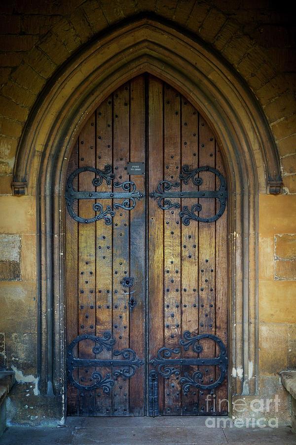 Ancient Church Door Photograph