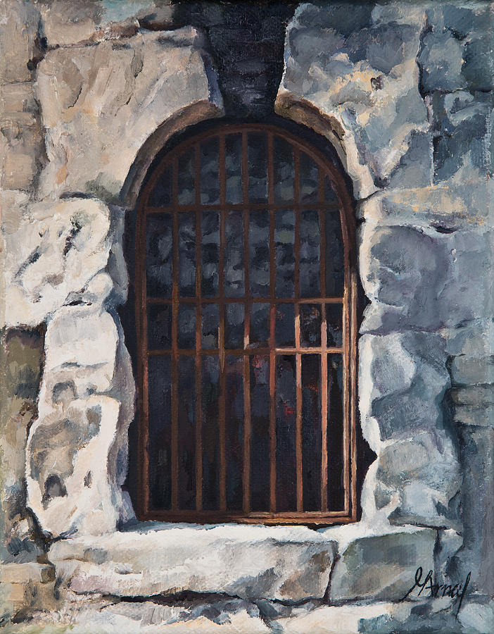 Ancient Architecture Painting - Ancient Door by Maria Arnaudova
